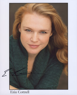 ERIN COTTRELL - AUTOGRAPHED SIGNED PHOTOGRAPH