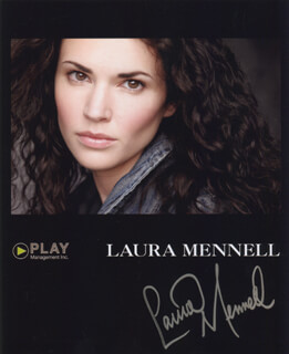 LAURA MENNELL - AUTOGRAPHED SIGNED PHOTOGRAPH