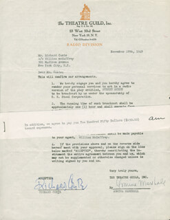 RICHARD CONTE - CONTRACT SIGNED 11/28/1949