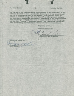 DANNY THOMAS - CONTRACT SIGNED 11/09/1951