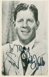 RUDY VALLEE - INSCRIBED PICTURE POSTCARD SIGNED