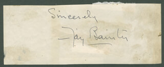 FAY BAINTER - AUTOGRAPH SENTIMENT SIGNED