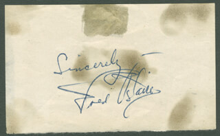 FRED ASTAIRE - AUTOGRAPH SENTIMENT SIGNED