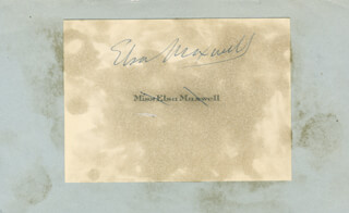 ELSA MAXWELL - CALLING CARD SIGNED
