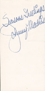JOHNNY MATHIS - AUTOGRAPH SENTIMENT UNSIGNED