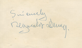 REGINALD DENNY - AUTOGRAPH SENTIMENT SIGNED