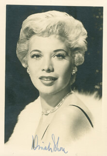 DINAH SHORE - AUTOGRAPHED SIGNED PHOTOGRAPH