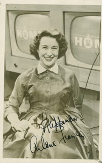 ARLENE FRANCIS - AUTOGRAPHED SIGNED PHOTOGRAPH