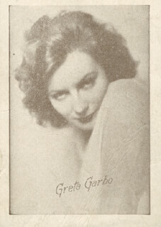 GRETA GARBO - PHOTOGRAPH UNSIGNED