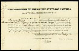 PRESIDENT MARTIN VAN BUREN - MILITARY APPOINTMENT SIGNED 04/17/1837 CO-SIGNED BY: JOEL POINSETT
