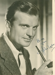 JOHN LODER - AUTOGRAPHED INSCRIBED PHOTOGRAPH