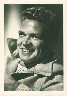 BILL WILLIAMS - AUTOGRAPHED INSCRIBED PHOTOGRAPH
