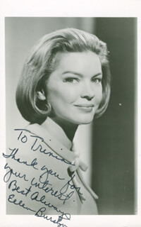 ELLEN BURSTYN - INSCRIBED PICTURE POSTCARD SIGNED