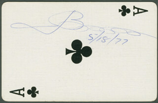Autographs: JOSEPH BONANNO - PLAYING CARD SIGNED 05/18/1977