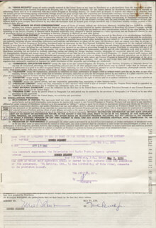 EDDIE ALBERT - CONTRACT MULTI-SIGNED 04/19/1960