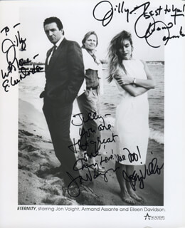 ETERNITY MOVIE CAST - AUTOGRAPHED INSCRIBED PHOTOGRAPH CO-SIGNED BY: ARMAND ASSANTE, JON VOIGHT, EILEEN DAVIDSON, JOEY VILLA
