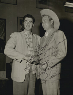 REX ALLEN - AUTOGRAPHED INSCRIBED PHOTOGRAPH 1958