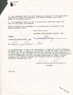 CHEVY CHASE - CONTRACT DOUBLE SIGNED