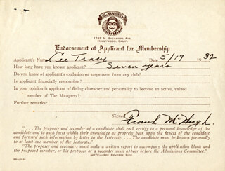 FRANK McHUGH - DOCUMENT SIGNED 05/17/1932