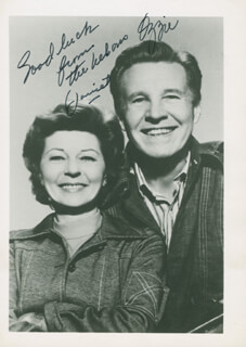 OZZIE & HARRIETT TV CAST - AUTOGRAPHED SIGNED PHOTOGRAPH CO-SIGNED BY: HARRIET HILLIARD NELSON, OZZIE NELSON