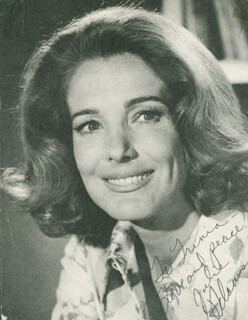 Autographs: JULIE ADAMS - INSCRIBED PICTURE POSTCARD SIGNED CIRCA 1972