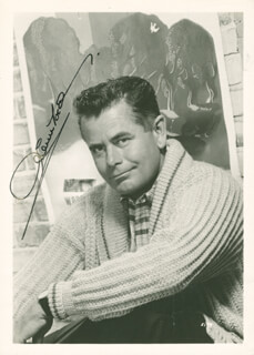 GLENN FORD - AUTOGRAPHED SIGNED PHOTOGRAPH