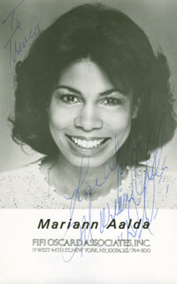 MARIANN AALDA - AUTOGRAPHED SIGNED PHOTOGRAPH