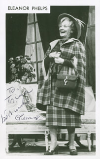 ELEANOR PHELPS - AUTOGRAPHED INSCRIBED PHOTOGRAPH