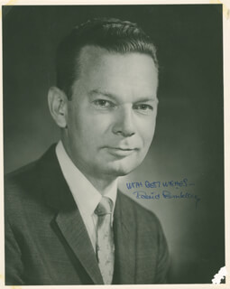 DAVID BRINKLEY - AUTOGRAPHED SIGNED PHOTOGRAPH