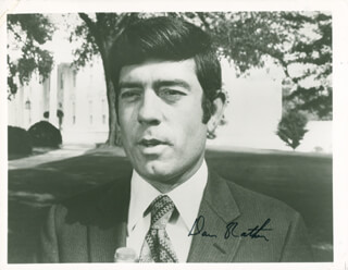 DAN RATHER - AUTOGRAPHED SIGNED PHOTOGRAPH