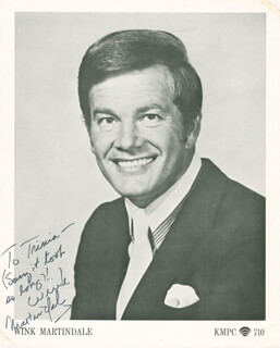 WINK (WINSTON) MARTINDALE - AUTOGRAPHED INSCRIBED PHOTOGRAPH