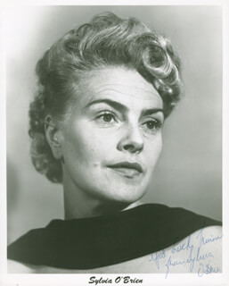 SYLVIA O'BRIEN - AUTOGRAPHED INSCRIBED PHOTOGRAPH