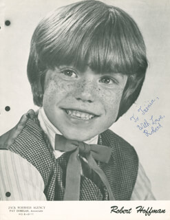 ROBERT HOFFMAN - AUTOGRAPHED INSCRIBED PHOTOGRAPH CIRCA 1975