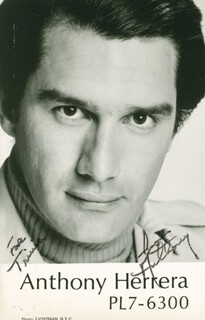 ANTHONY HERRERA - AUTOGRAPHED INSCRIBED PHOTOGRAPH