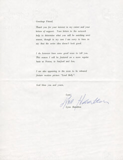 LYNN HAMILTON - TYPED LETTER SIGNED 03/27/1975