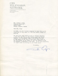 TUDI WIGGINS - TYPED LETTER SIGNED 03/27/1975