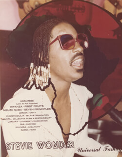STEVIE WONDER - PHOTOGRAPH UNSIGNED