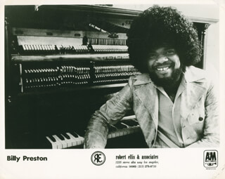 BILLY PRESTON - PHOTOGRAPH UNSIGNED