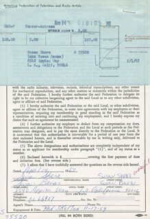 SUSAN (BANAS) SHERE - DOCUMENT DOUBLE SIGNED 04/14/1967