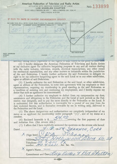 CORA SHANNON - DOCUMENT SIGNED 04/18/1954