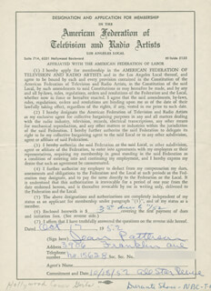 JEAN PATTERSON - DOCUMENT SIGNED 10/17/1952