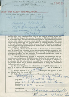 ROBERT B. CLARK - DOCUMENT SIGNED 12/14/1956