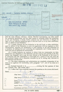 RON (RONALD EARL) POINDEXTER - DOCUMENT DOUBLE SIGNED 08/03/1965