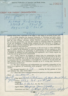 RUTHIE ROBINSON - DOCUMENT SIGNED BY A DEPUTY 10/20/1955