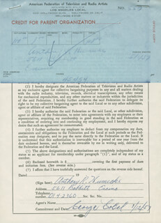 ANTHONY HUMECKE - DOCUMENT SIGNED