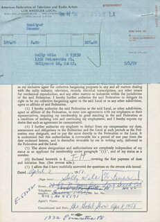 SALLY WILE - DOCUMENT SIGNED 04/02/1958