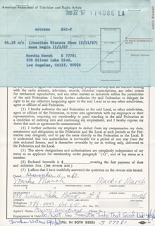 MARDIE MARCH - DOCUMENT DOUBLE SIGNED 12/11/1967