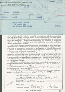 SONJA HANEY - DOCUMENT SIGNED 09/13/1960