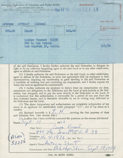 LOUISE VINCENT - DOCUMENT SIGNED 09/11/1958