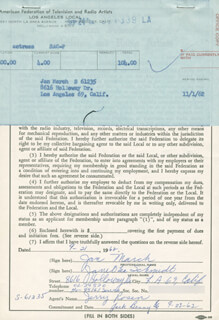 JAN MARCH - DOCUMENT SIGNED 09/21/1962